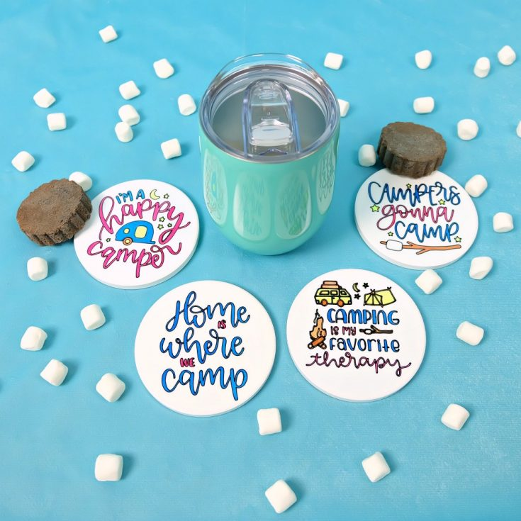 DIY Camping Gift Idea- Cricut Infusible Ink