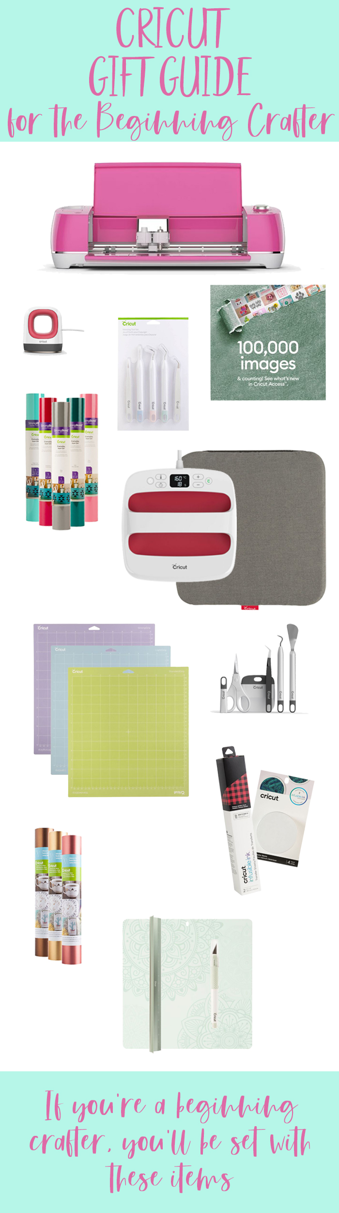 If you're new to crafting then this Cricut Gift Guide for the Beginning Crafter is for you! You'll be creating beautiful projects in no time!
