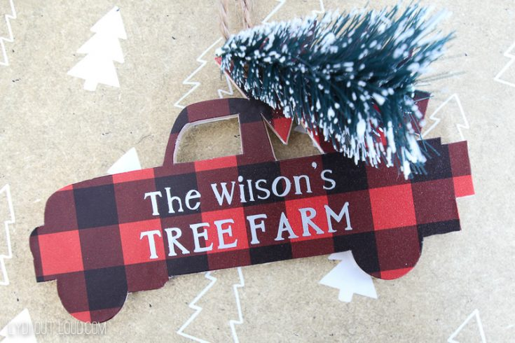 DIY Personalized Christmas Truck Ornament with the Cricut Maker