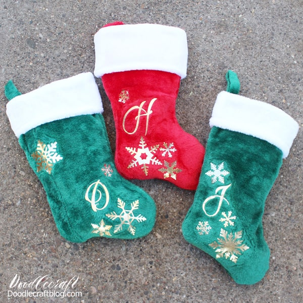 Cricut Maker Personalized Christmas Stockings Tutorial