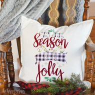 'Tis The Season Christmas Throw Pillow