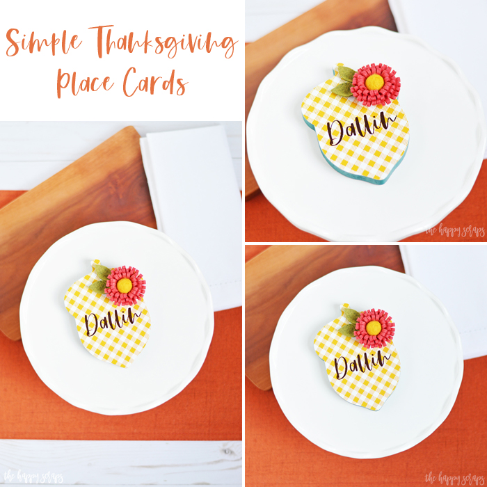 You'll have these Simple Thanksgiving Place Cards put together in no time, and they will be a great addition to your Thanksgiving Dinner Table.