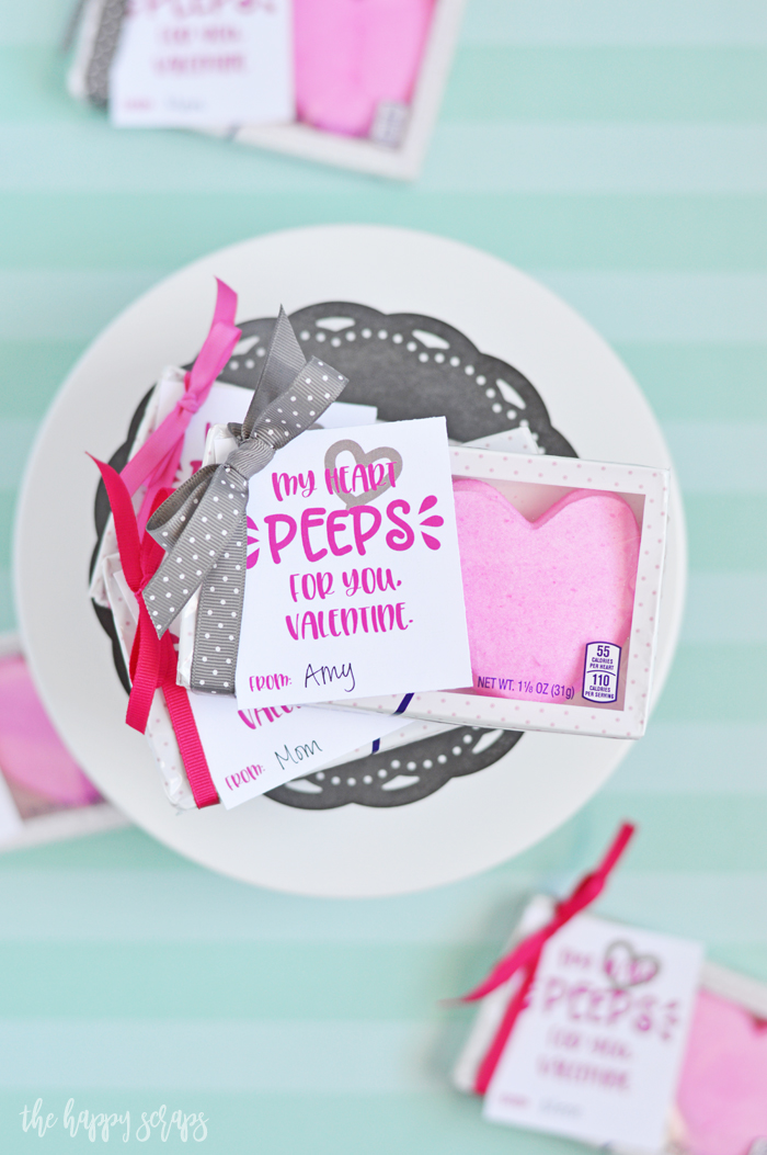 This Simple Peep Valentine is perfect to put together for your friends and family. Get the printable on the blog and whip some up!