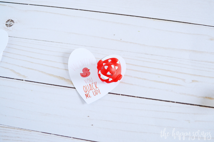 Cricut Print then Cut Duck Valentine - Attach duck to heart