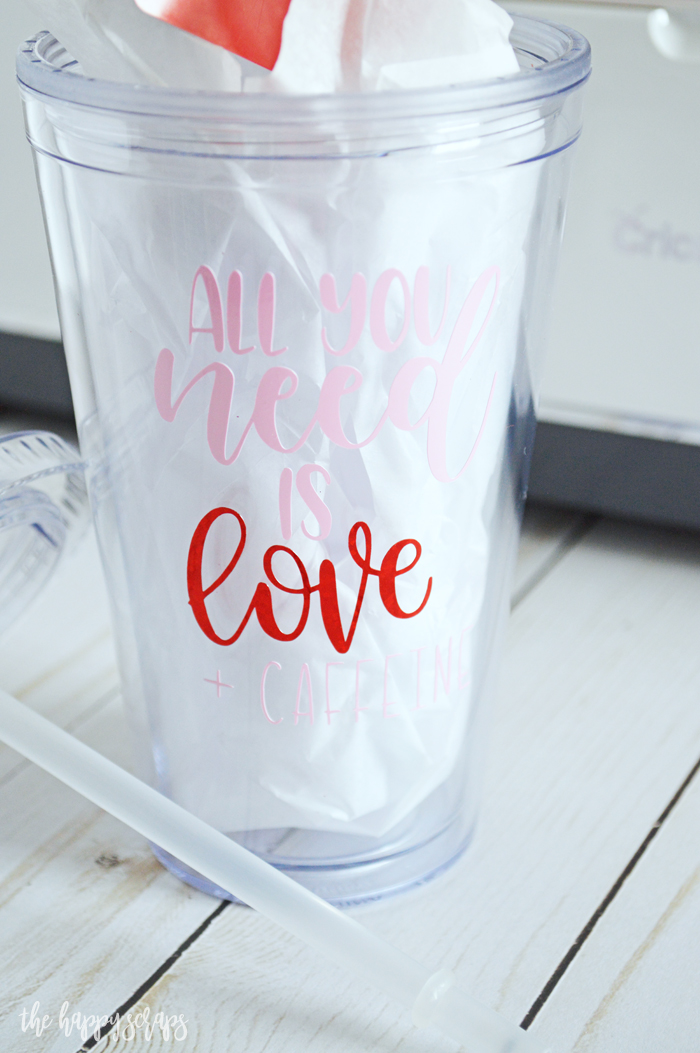 Valentine Cup Gift Idea - All you need is Love + Caffeine
