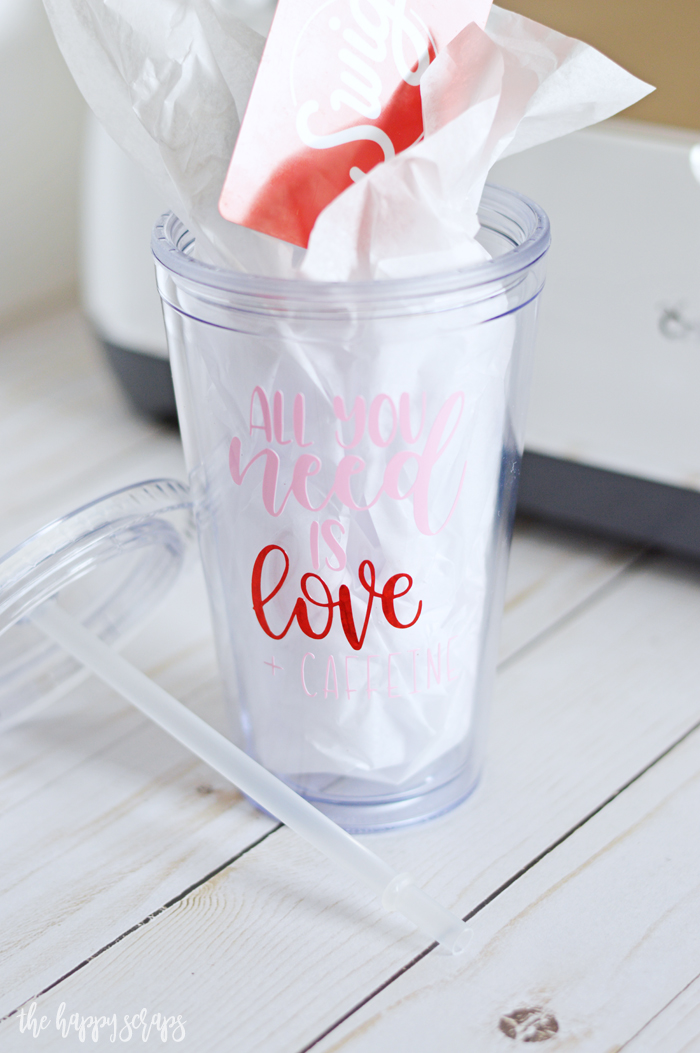 This Valentine Cup Gift Idea is perfect for anyone who loves soda + caffeine! Pick your design and make one for yourself, or for a friend.