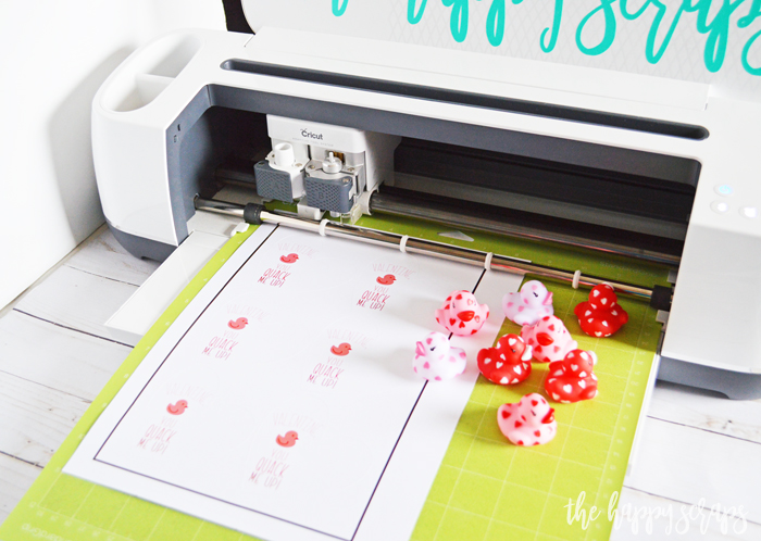Cricut Print then Cut Duck Valentine - Supplies