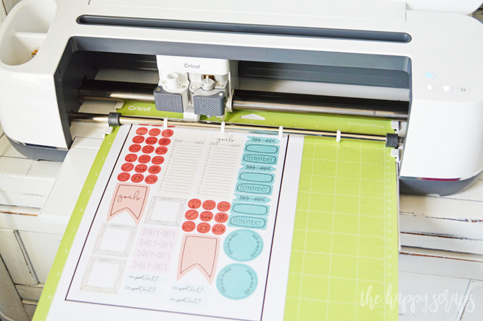 Cricut Print then Cut Happy Planner Stickers - Cut with Cricut