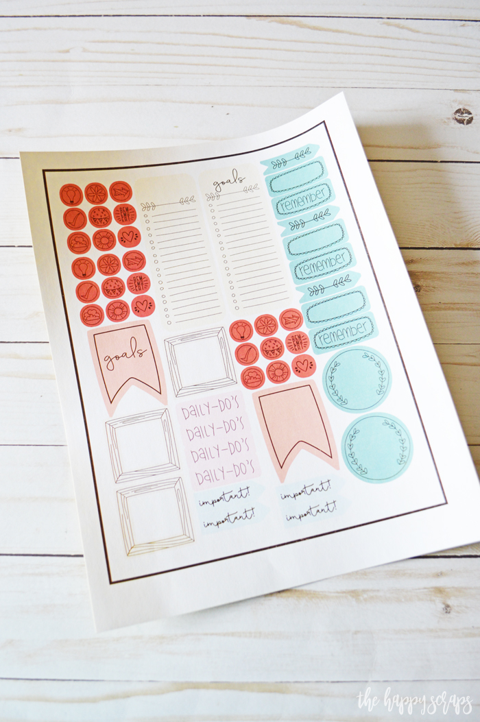 Cricut Print then Cut Happy Planner Stickers - Printed sticker paper