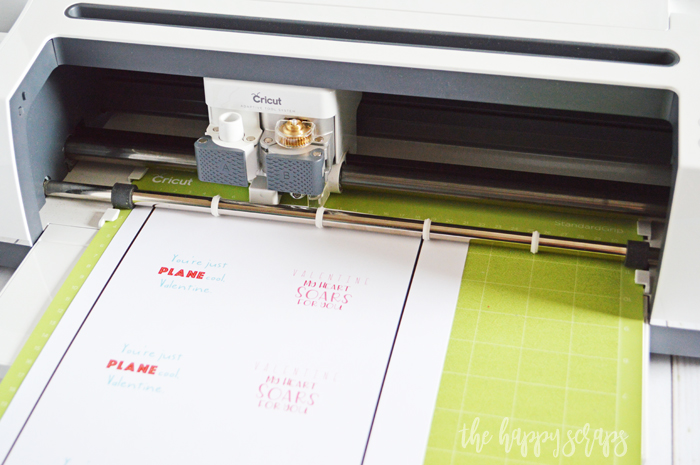 Cricut Print then Cut Airplane Valentines - Cricut Maker