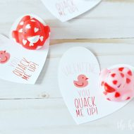 Cricut Print then Cut Duck Valentine