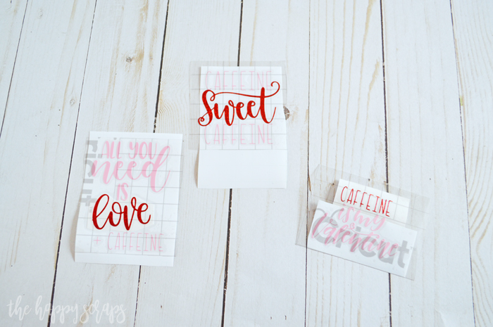 Valentine Cup Gift Idea - Apply Transfer Tape
