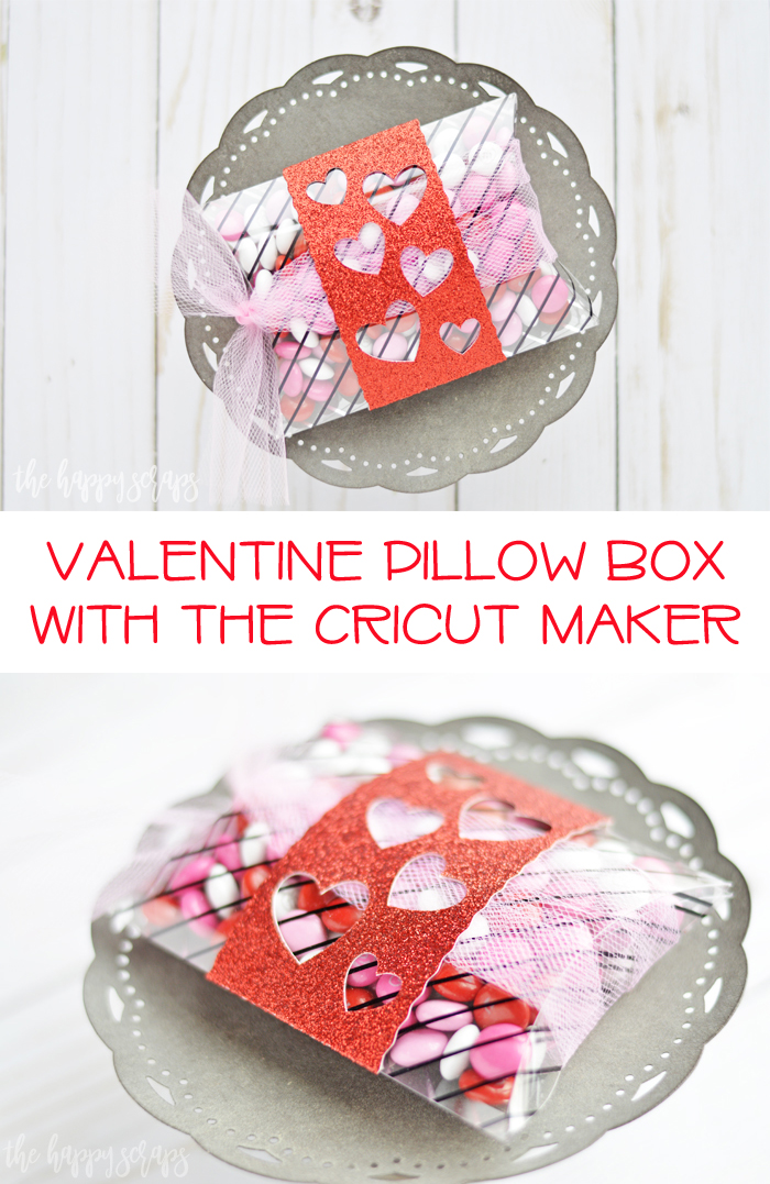 Whip up this fun Valentine Pillow Box with the Cricut Maker and let someone know you're thinking of them this Valentine's day.
