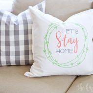 Let's Stay Home Farmhouse Pillow