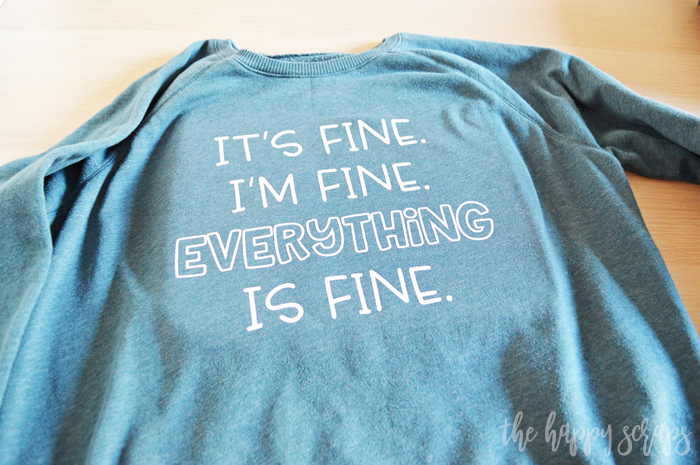 Everything is Fine at least that's what I tell myself. If you're feeling the same, then grab this free SVG file and make a shirt, car or cup decal for you.