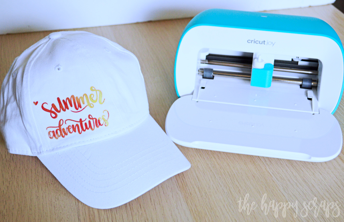 Creating simple projects like this Summer Adventures hat is easy with the Cricut Joy!