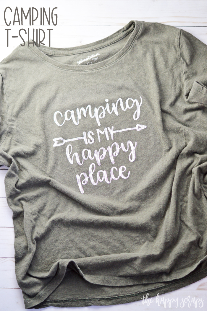 Do you love to camp too? Make yourself some HTV Camping T-shirts to show your love for being in the outdoors. These make a quick + easy project!