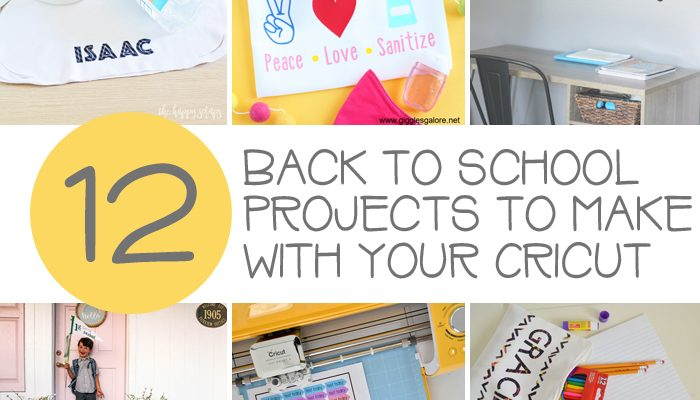 12 Back to School Projects to Make with your Cricut
