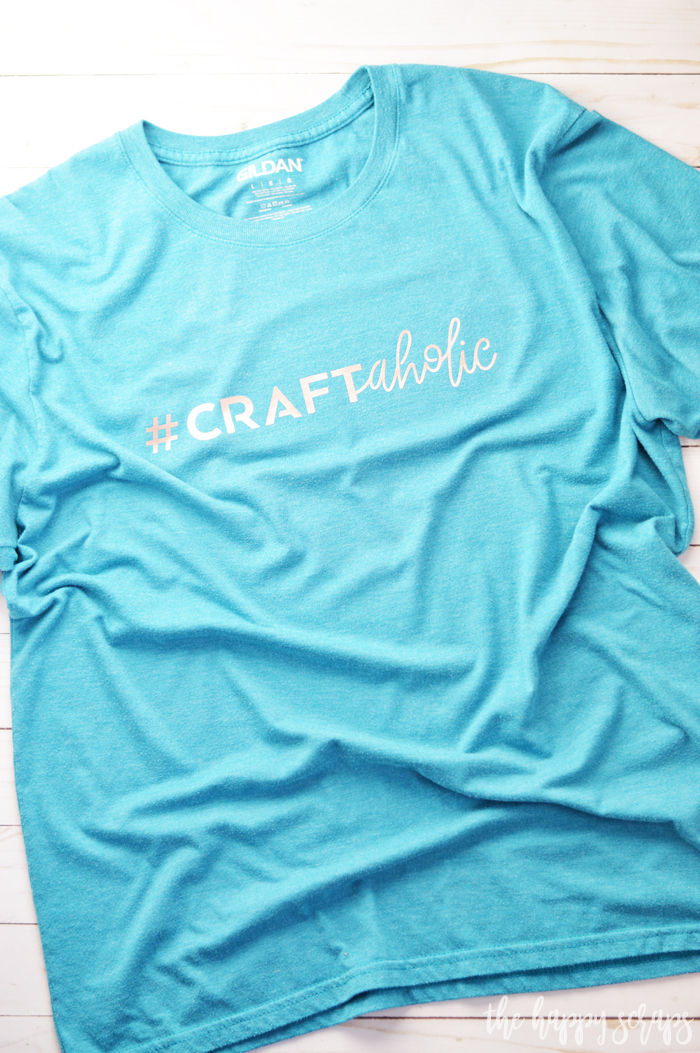 If you're a Craftaholic like me, then you need this Craftaholic Crafter Tee too! It's a quick and simple project you can have done fast!