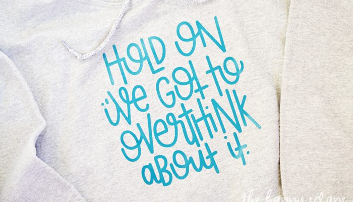 Overthink About It Sweat Shirt
