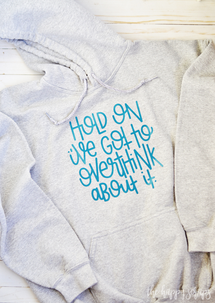Raise your hand if you need a Hold On I've Got To Overthink About It Sweat Shirt?! This is one of my favorite sweat shirts, because, truth!
