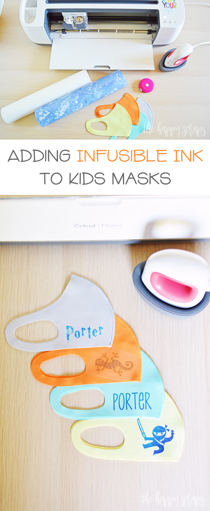 Adding Infusible Ink to Kids Masks is easy to do! Learn how to personalize store bought masks with Infusible Ink.