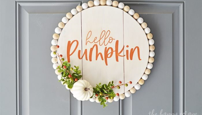 Hello Pumpkin Fall Door Decor
