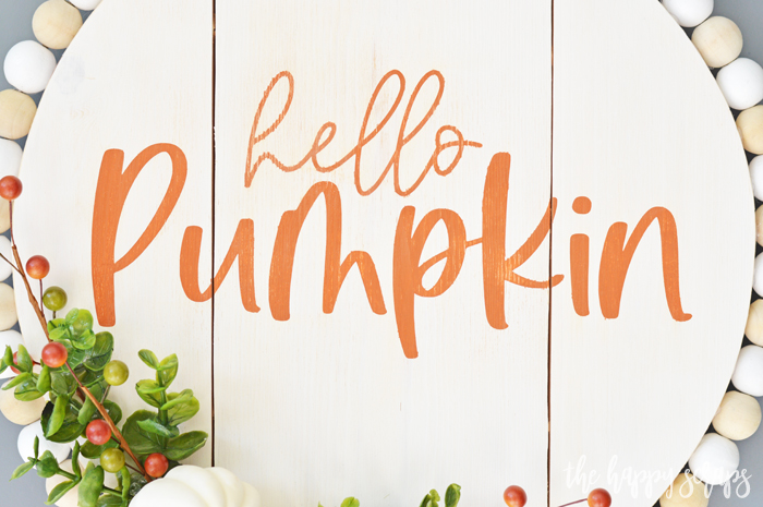 This Hello Pumpkin Fall Door Decor is sure to make sure to bring a smile to any guest to your home. Get the free SVG + tutorial on the blog.