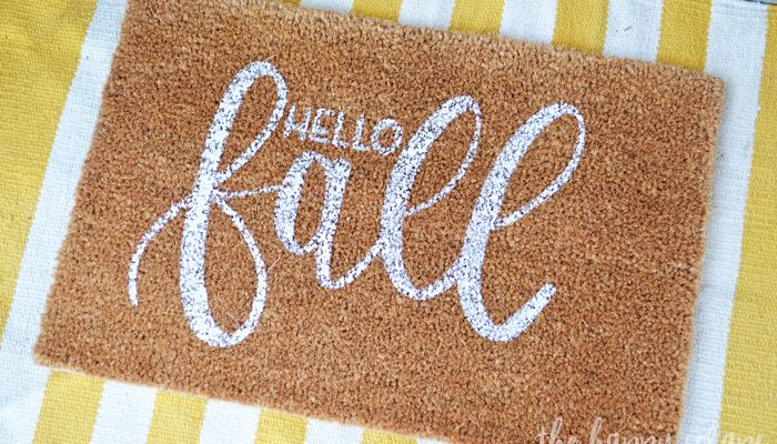 DIY Hello Fall Front Porch Rug