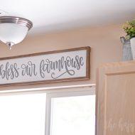 Bless Our Farmhouse Kitchen Sign