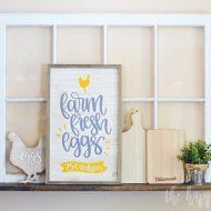 Farm Fresh Eggs Kitchen Sign