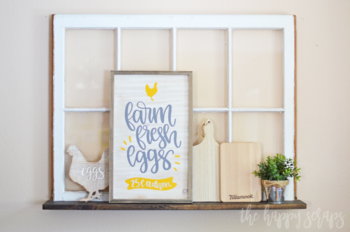 Create this fun Farm Fresh Eggs Kitchen Sign to have for your own home! It's a fun and easy project that you're sure to love.