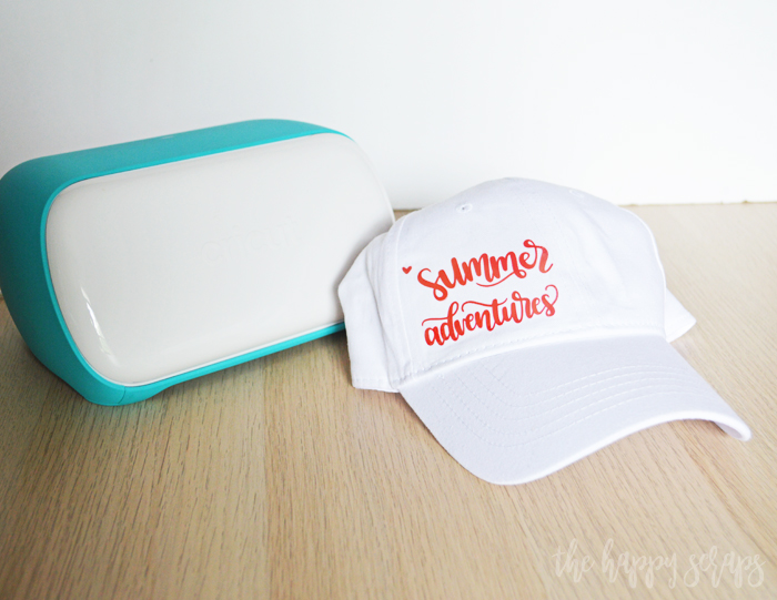 Learn How to Make a Summer Hat with the Cricut Joy and have a cute hat to wear all summer long! Details on the blog.