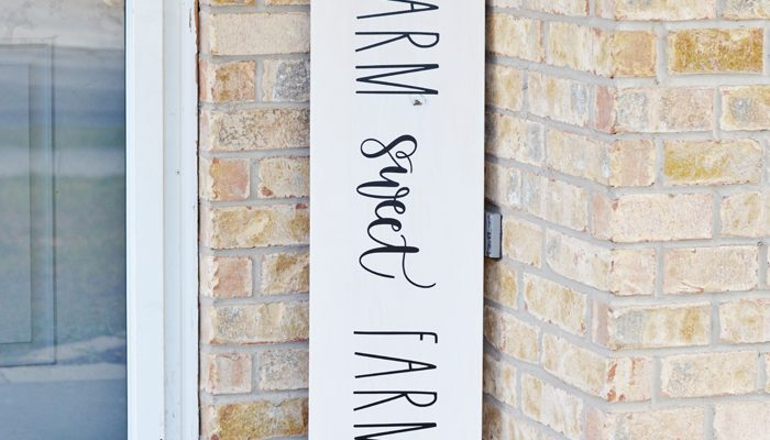 Farm Sweet Farm Front Porch Sign with the Cricut Maker 3